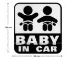 【愛車族】BABY IN CAR 立體貼紙 (黑.紅.白 3色選擇)