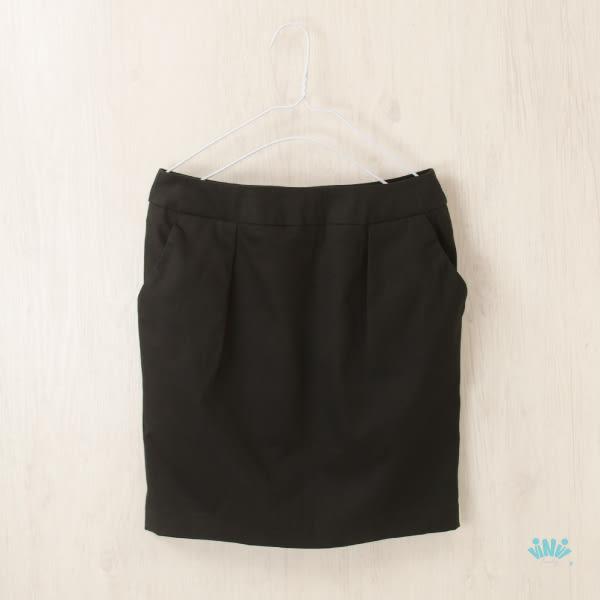 viNvi Lady 純色修身口袋包臀短裙