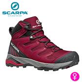 【速捷戶外】義大利 SCARPA MAVERICK MID GTX 63090-202 女中筒Gore-Tex防水登山鞋 紅紫羅蘭-櫻桃紅