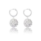 耳環 925純銀 鑲鑽-華麗細膩生日情人節禮物女飾品73hz70【時尚巴黎】
