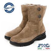 【IMAC】義大利進口磨砂皮革毛內裡氣墊短靴/女靴  淺咖啡(208009-MBR)