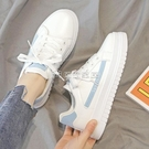 運動鞋鞋子女2021春款小白鞋女學生韓版百搭ins原宿風皮面運動平底板鞋