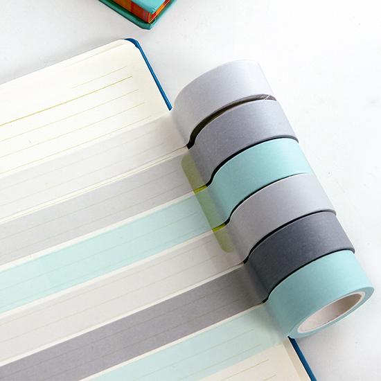 純色和紙膠帶 易撕膠帶 復古色性 北歐風 膠帶 筆記本 美勞 文具 辨識 可撕【G065】米菈生活館