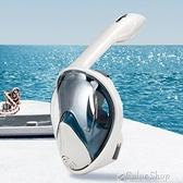 COPOZZ浮潛三寶面罩全臉潛水鏡面鏡全干式呼吸器兒童成人游泳裝備 快速出貨