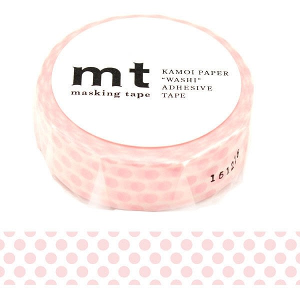 日本mt Masking Tape 和紙膠帶 草莓牛奶圓點 15mm