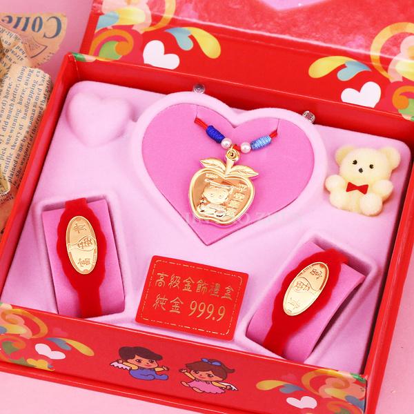 平平安安-彌月金飾音樂禮盒(0.10錢)