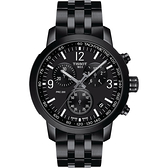 TISSOT 天梭 T-Sport系列 PRC200 競速三眼計時手錶(T1144173305700)