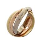 Cartier 卡地亞 Trinity系列 18K金三色三環戒 Ring #58 【二手名牌BRAND OFF】