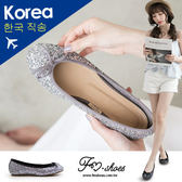 包鞋.閃亮焦點朵結金蔥娃娃鞋-FM時尚美鞋-韓國精選.gimme