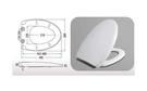 【麗室衛浴】國產外銷  抗菌 緩降 馬桶蓋 BU116  (美規)  A-459-2
