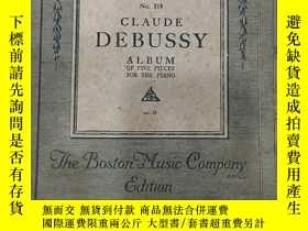 二手書博民逛書店Claude罕見debussy album of five pi