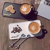 咖啡杯 馬克杯創意咖啡杯套裝陶瓷早餐牛奶杯子帶勺情侶杯子簡約個性水杯 麥琪精品屋