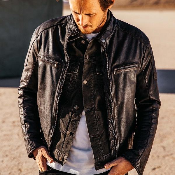 Deus Ex Machina Damager Leather Jacket 皮外套-男/女(黑)