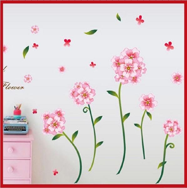 壁貼--粉色花朵 AY7245-586【AF01013-586】i-Style居家生活