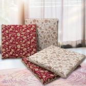 【Indian】奢華風雙面緹花立體記憶坐墊 紅色