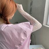 蕾絲打底衫女網紗內搭2021夏季洋氣長袖ins小衫白色上衣 童趣屋 免運