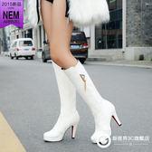 長靴高筒靴高跟女鞋騎士靴 Xgpj16