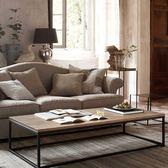 茶几 北歐風格鐵藝實木茶桌茶几簡約現代復古做舊長方形小桌子台咖啡桌