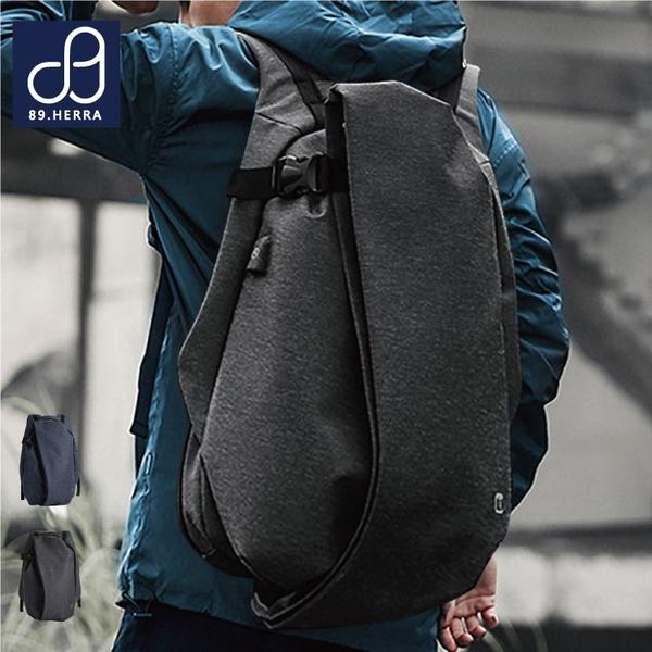 後背包 防水面料潮流商務USB款全開式筆電平版後背包 男包 89.HERRA-HB89295