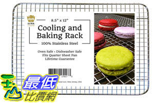 [105美國直購] 烤網 100% Stainless Steel Wire Cooling Rack for Baking fits Quarter Sheet Pan Rust Resistant B01COO5O50