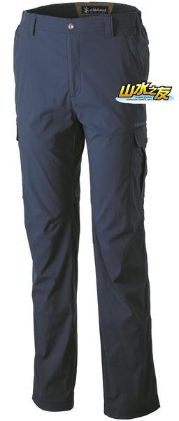 【山水網路商城】荒野WILDLAND 新款 男彈性口袋透氣抗UV長褲 透氣/排汗/抗UV/防潑水 0A31326-49 深灰藍