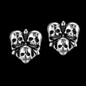 鈦鋼耳環-骷髏頭搖滾生日情人節禮物男女飾品73cn43[時尚巴黎]