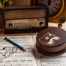 幸福森林.木製 發條式選轉音樂盒 客製化禮物-小松鼠