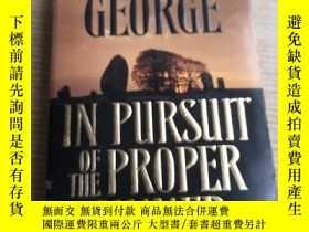 二手書博民逛書店ELIZABETH罕見GEORGE IN PURSUIT OF PROPER THE SINNEY314398