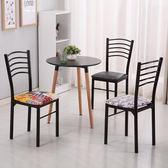 簡易餐廳椅子靠背家用簡約現代飯店快餐椅時尚酒店餐桌椅鐵藝成人