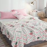 極柔牛奶絨羊羔絨雙層保暖毯-菠蘿 BUNNY LIFE