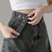 短褲破洞牛仔短褲女小個子韓版高腰休閑顯瘦百搭A字毛邊闊腿熱褲NE245快時尚