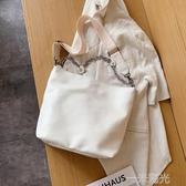 大容量包包女2020新款潮百搭寬帶單肩托特包簡約斜背包/側背包洋氣手提包 一米陽光
