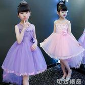 女童連身裙新款夏裝公主裙蓬蓬紗韓版禮服夏季兒童裝洋氣裙子  可然精品鞋櫃