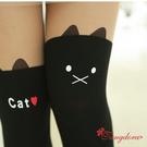 唐朵拉熱銷日版韓系可愛小貓修飾美腿超顯瘦...