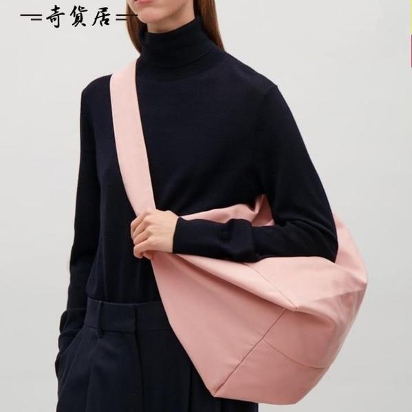 秋冬2018新款女包帆布大包輕便牛津布側背斜挎包大容量旅行購物袋