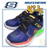 SKECHERS Erupters II 90550LNVMT 男童 閃燈運動鞋,Z字黏扣帶.免綁帶