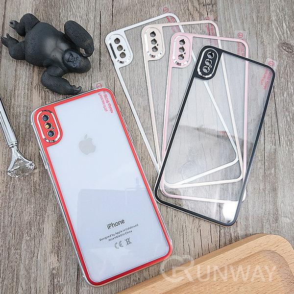 蘋果 iPhone X 鈦合金膜 小金邊 鋼化玻璃背膜 高透亮 金屬鏡頭保護 不碎邊