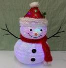 60LED燈伸縮聖誕雪人擺飾】聖誕樹 聖誕襪聖誕帽聖誕燈聖誕金球聖誕服聖誕老人