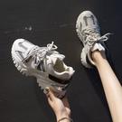 黑色老爹鞋女2021年新款秋季厚底增高百搭休閒ins潮運動鞋子 8號店
