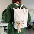 帆布包女學生韓版斜挎包ins百搭原宿書包單肩包雙肩大容量手提袋