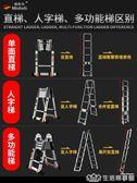 伸縮梯子人字梯鋁合金加厚工程摺疊梯 家用多功能升降樓梯 生活樂事館NMS
