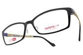 Alphameer 光學眼鏡 AM35 C116 (黑-淺咖啡) 簡約百搭方框款 # 金橘眼鏡