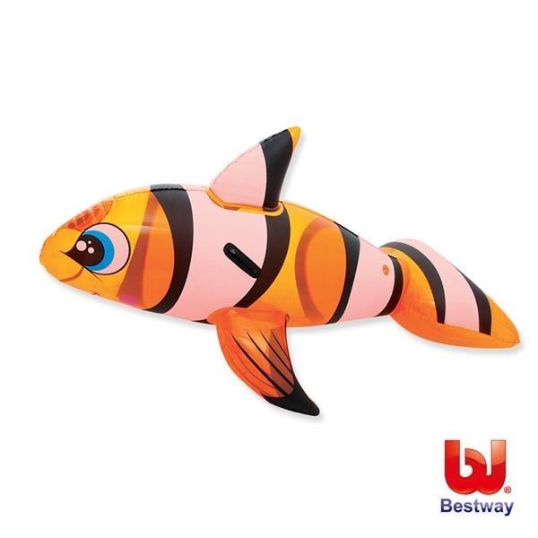【南紡購物中心】Bestway。62X37吋小丑魚充氣坐騎-41088