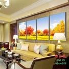 【優樂】無框畫裝飾畫客廳黃金滿地黃金樹發財樹風景金秋時節秋韻