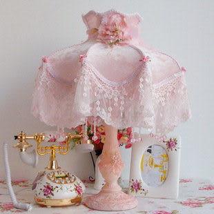 高檔歐式布藝蕾絲 調光燈飾 金粉世佳