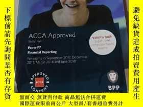 二手書博民逛書店ACCA罕見Approved study Text paper F7:ACCA認可學習資料紙F7(外文)Y21