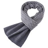 針織圍巾-羊毛保暖拼色格子男披肩3色73wi21【時尚巴黎】