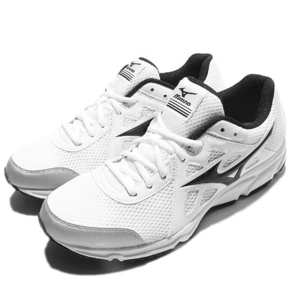 Mizuno 慢跑鞋 Maximizer 19 白 黑 網布 透氣輕量 男鞋【PUMP306】K1GA170010