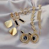 S925純銀針法式耳釘女耳環冷淡風高級感耳墜小耳飾潮 歐韓流行館