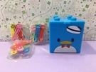 【震撼精品百貨】Tuxedo Sam Sanrio 山姆藍企鵝~積木抽屜盒附迴紋針夾-15入